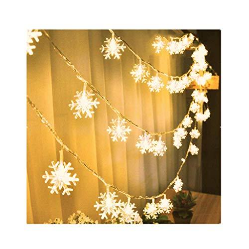 Pageantry LED Lichterkette 1.5/4 Meter Schneeflocke Weihnachtsbeleuchtung, Beleuchtung für Außen Innen Garten Party Weihnachten Fest(Enthält keine Batterie)