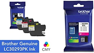 $71 » Brother LC3029 Color C/M/Y Ink Cartridges (LC30293PKS), Super High Yield, 3/Pack,Cyan/Magenta/Yellow & LC3029M Super High Yield Magenta Ink Cartridge