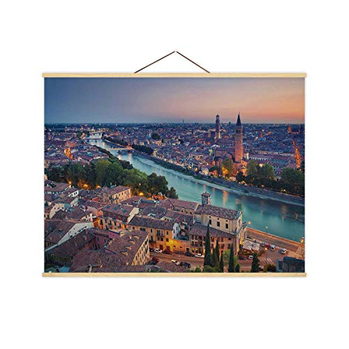 Verona.of Verona,Decor Posters Italy During Summer Sunset. for Home Decoration 12X8In
