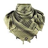 M-Tac Shemagh Viking Tactical Desert Head Neck Scarf Wrap Keffiyeh (Olive - Black)