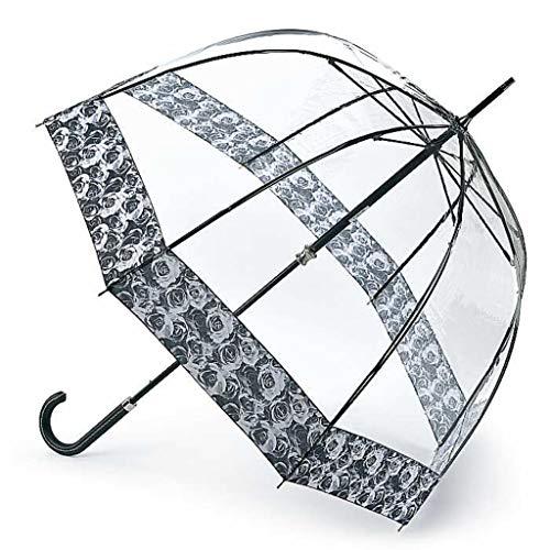 Fulton Birdcage 2 Luxe Photo Rose Print Umbrella, Bl