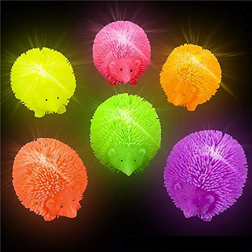 Shop Zoombie Light-Up Hedgehog Puffer Flashing Toy - 12 Pack and 1 Vortex Eraser - Party Favors Glow Parties Prizes Sensory Toys Easter Baskets Stocking Stuffers
