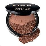 NYX MATTE BRONZER/BRONZEUR MAT for face & body 0.33 oz / 9.5 g full size_MBB02 DEEP (Deep Cool Brown) BCS_WT