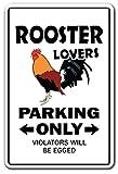 Rooster Lovers Parking Aluminum Sign Chicken Farmer Farm Cock | Indoor/Outdoor | 14' Tall