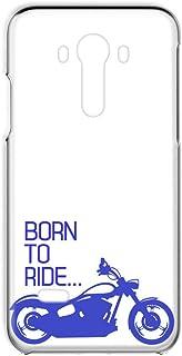 LG isai vivid LGV32 用 スマホケース ハードケース 透明カバー バイク・ブルー レトロ オートバイ エルジー イサイ ビビッド au スマホカバー 携帯ケース 携帯カバー FFANY bike_00r_h144@03