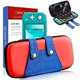 Funda para Switch Lite, [Color-Clash Look][Estuche Protección] Mario Funda de Viaje Portátil Transportar para Switch Lite y Accesorios-Rojo