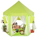 KIDUKU Tente de jeu pour enfants Château de Princesse Tente de jeu Maison de Jouet Château de Princesse de fées, 3 couleurs au choix (Vert)