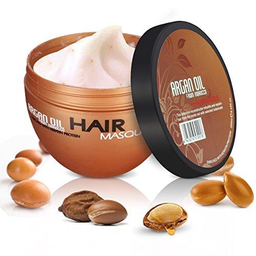 Skymore Arganöl Haarspülungen Haarmaske, Hair Treatment Mask, Feuchtigkeitsspendend Haar Conditioner Mask Haarpflege Für Strapaziertes Und Trockenes Haare, 250 ml