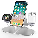 3 in 1 Aluminum Charging Station for Apple Watch Charger Stand Dock for iWatch Series 4/3/2/1,iPad,AirPods and...