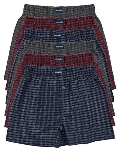 6 bedruckte & weiche 100% Baumwoll Herren Boxershorts Boxer Short in 6 oder 3 modischen Farben im 6er Set verfügbar in S M L XL 2XL 3XL 4XL & 5XL 6XL, Set10, L-6