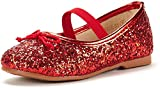 DREAM PAIRS Toddler Belle_01 RED Girl's Mary Jane Ballerina Flat Shoes Size 9 M US Toddler