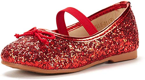 DREAM PAIRS Toddler Belle_01 RED Girl's Mary Jane Ballerina Flat Shoes Size 10 M US Toddler