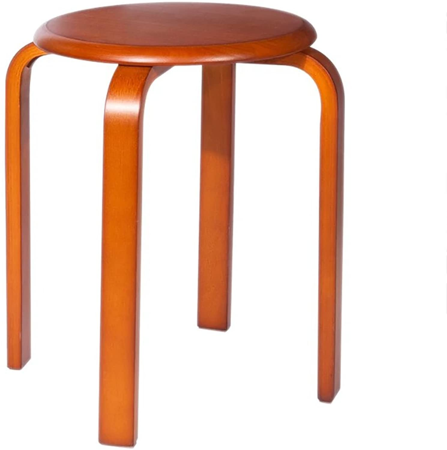 WENJUN Solid Wood Stool Stool Home Dining Table Stool Fashion Creative Small Wooden Bench Adult Wooden Stool Bench (color   2)