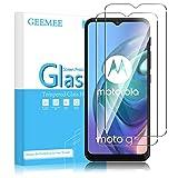 GEEMEE Protector de Pantalla para Motorola Moto G30/Moto G10/Moto E7 Power/E7/E7 Plus/G9 Play, Cristal Templado Película Vidrio Templado 9H Alta Definicion Screen Protector Film para Moto G 30/G 10