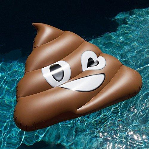 SHASHA Colchonetas Y Juguetes Hinchables Gigante Emoji Gracioso Natación Anillo Mierda Inflable Piscina Flotador De La Sonrisa Aire Colchón Verano Agua Partido Juguetes Adultos Piscina Durable