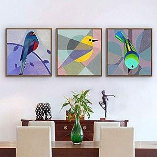 ganlanshu Nórdico Creativo pájaro decoración Pintura Moderna Sala de Estar Dormitorio Comedor sofá Fondo Pared Cartel,Pintura sin Marco,40X40cmx2