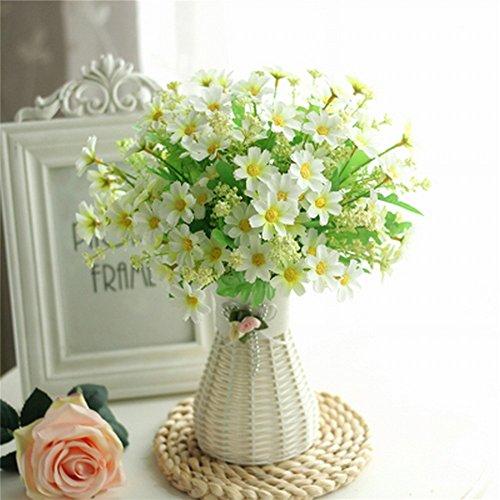 Fleur en Plastique en Pot Salon Chambre Juan Fleur Décoration Décorative Table Basse Réfrigérateur Simulation Faux Vert Plante,UNE