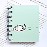 CAOLATOR Notizheft Schreibblock Kladde Hardcover Notizbuch Karikatur Katze Reise Tagebuch Notizblock Täglichen Notizblock Paper Tagebuch Notizheft
