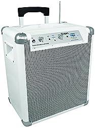 ION Audio Block Rocker BT Weiß 2013 Modell | 50 Stunden Akku Tragbares Bluetooth Lautsprechersystem mit Mikrofon