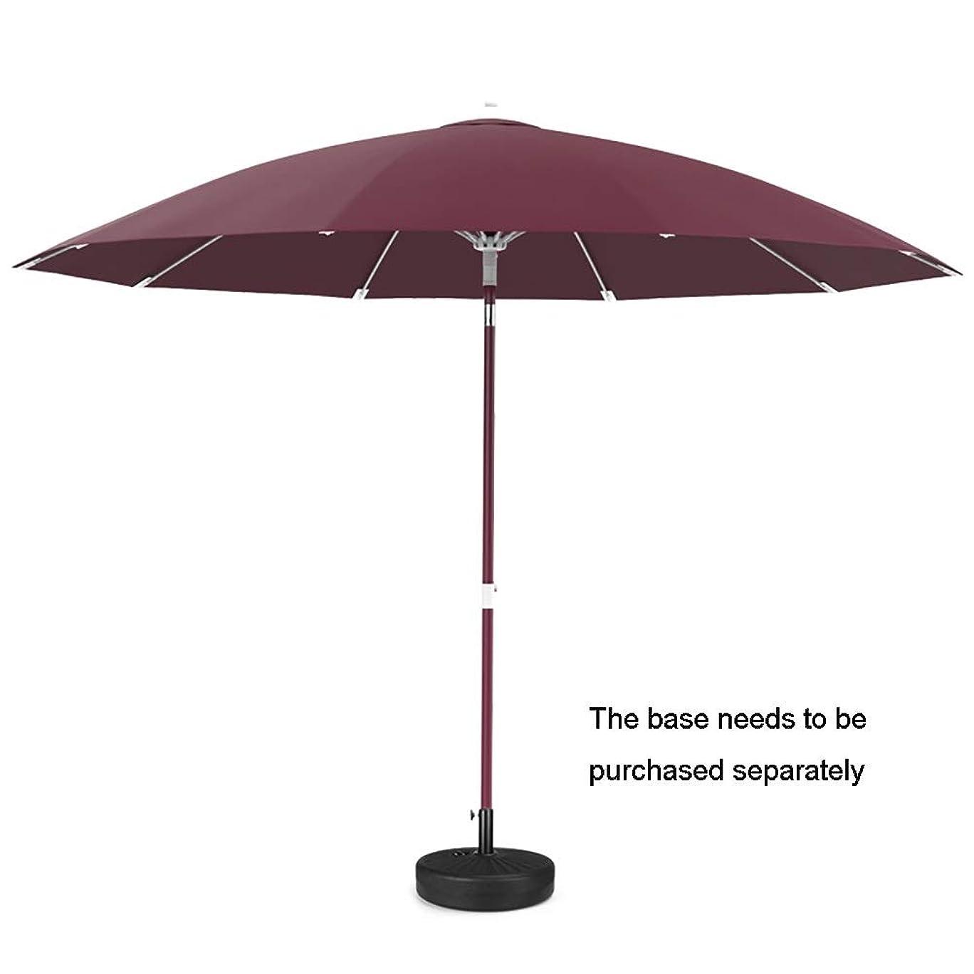 収容する娘伝える長傘 ベースなし屋外市場用パラソル、庭用グラスファイバーリブ付きパティオテーブル傘など(8.2フィート) (色 : 赤)
