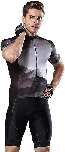 YILIFA VêteHommests de Cyclisme pour Hommes à Manches Courtes, Ensemble de Cyclisme pour Hommes Maillot d'été pour Cyclistes,C,3XL