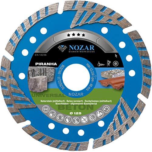 Nozar Diamant-Trennscheibe Piranha 125 mm 22,23 mm