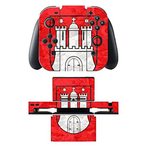 Disagu SF-sdi-5542_743 Design Skin/Folie für Nintendo Switch/Controller/Dockingstation - Motiv Hamburg klar
