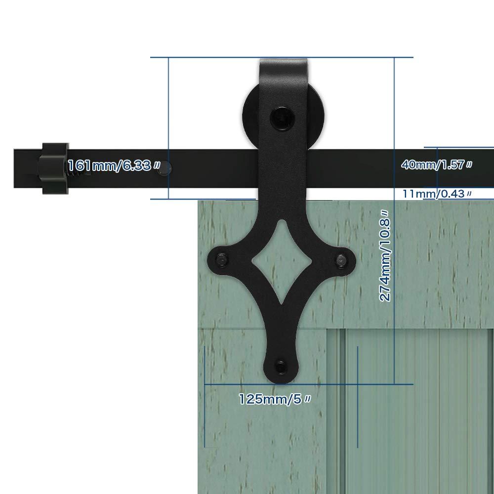 182CM/6FT Herraje para Puertas Corredizas Interiores Deslizante Puerta de Granero Corredera de Madera Sliding door hardware: Amazon.es: Bricolaje y herramientas