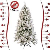 🔥 IMPORTANTE : La maggior parte degli alberi di Natale venduti su Amazon sono altamente infiammabili. Questo splendido albero di Natale innevato e' IGNIFUGO ! ✅ Un albero di Natale fresco e bello da 848 rami, facile da montare, che non da problemi e ...