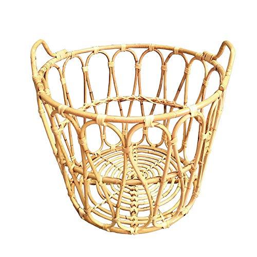 Cestas de lavandería de ratán de color primario de estilo nórdico, cestas de lavandería de hotel, cestas de lavandería, cestas de toallas de baño para el hogar-Calibre 42 * alto 31,5 CM