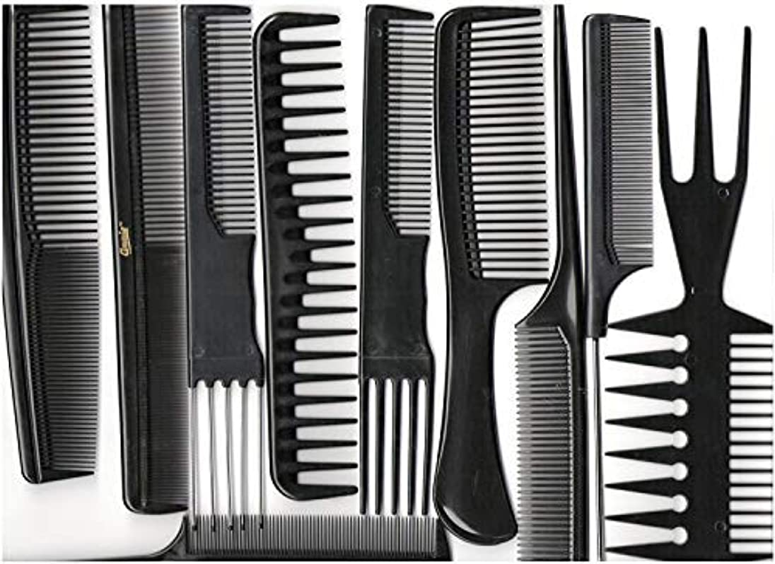 成分計算可能状況Annie Professional Comb Set 10Ct Black [並行輸入品]