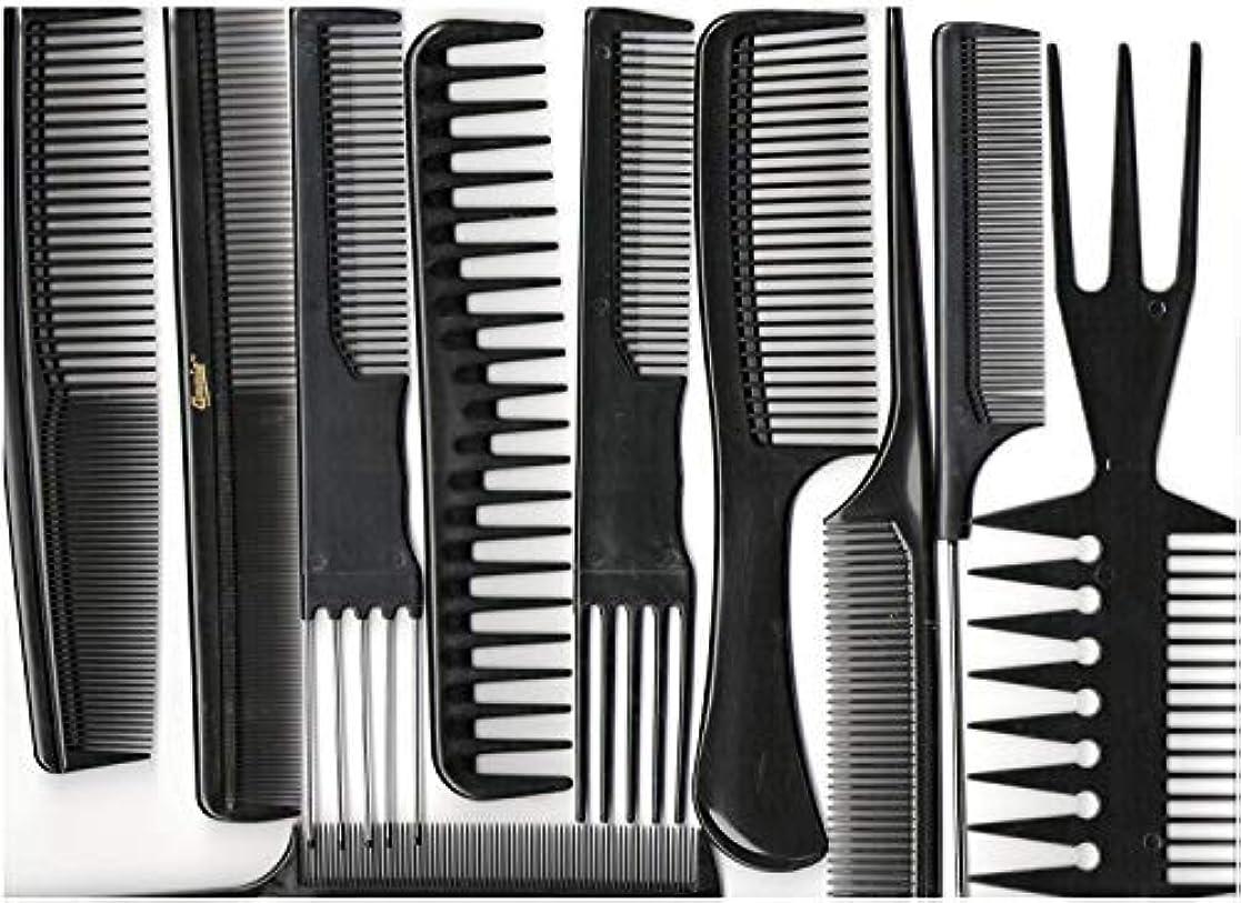 遺棄された付き添い人兵士Annie Professional Comb Set 10Ct Black [並行輸入品]