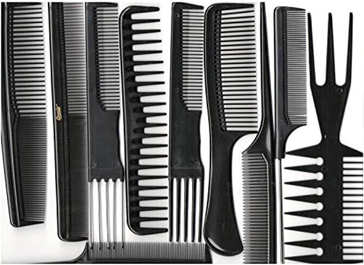 生む請求項目Annie Professional Comb Set 10Ct Black [並行輸入品]