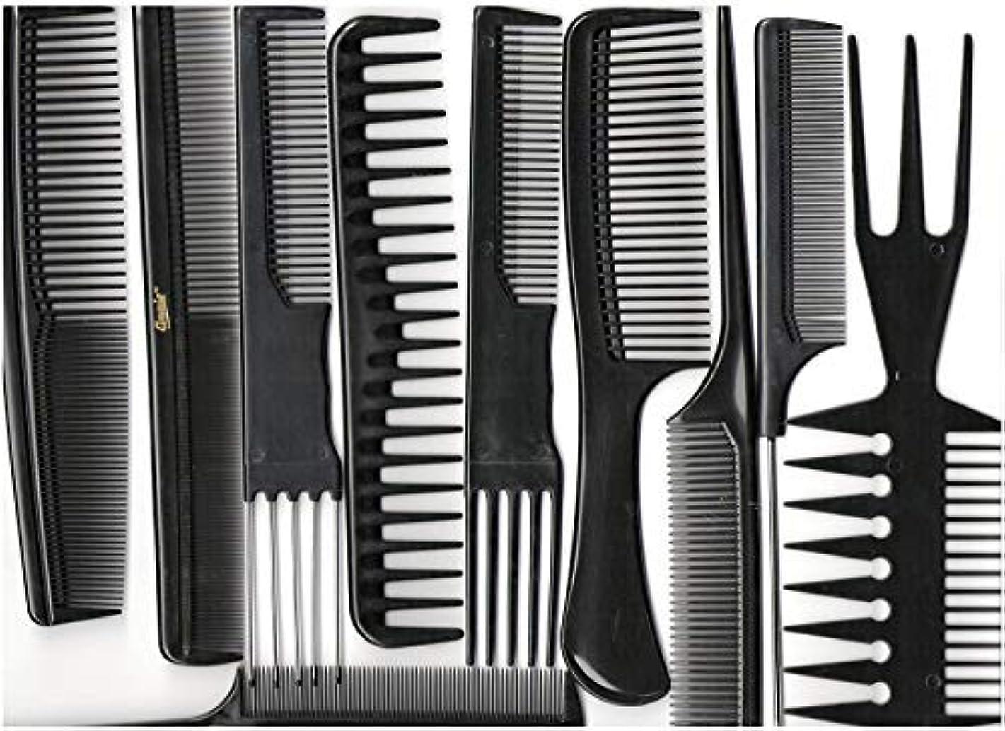 職業高齢者最終的にAnnie Professional Comb Set 10Ct Black [並行輸入品]