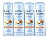 Jergens Wet Skin Body Moisturizer with Restoring Argan Oil, 10 Fl Oz (Pack of 4) (Packaging May Vary)