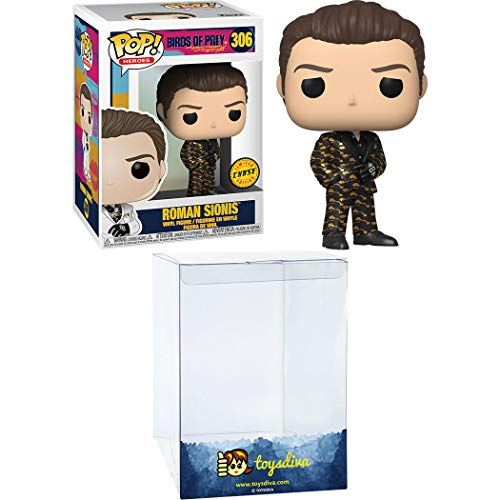 Roman Sionis (Chase): Funk o Pop! Heroes Vinyl Figure Bundle with 1 Compatible ToysDiva Graphic Protector (306 - 44374 - B)