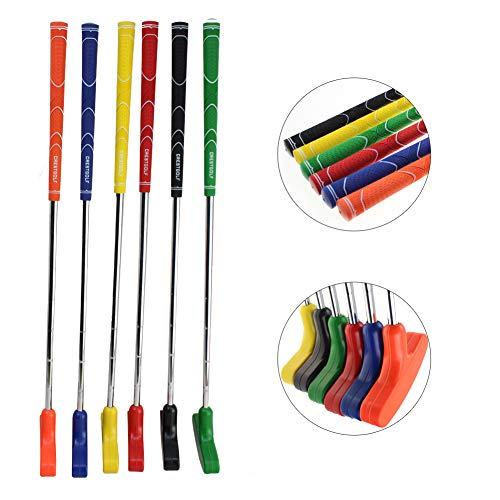 crestgolf Mini Golf Putter, Kids Juego de golf, seis colores de goma para palo de golf para niños, para su elección