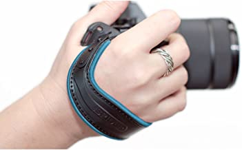Spider Holster SpiderLight Wrist Camera Strap (Light Blue Trim) For DSLR & Mirrorless Cameras w/ 2 ivation Replacement Quick Release Plates for the Manfrotto RC2 Rapid Connect Adapter