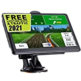 GPS Navigation for Car,Latest 2021 Map 7 inch Touch Screen Car GPS 256MB-8GB, Voice Turn Direction Guidance, Support Speed and Red Light Warning, Pre-Installed North America Lifetime map Free Update'