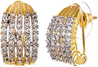 6c0ccd6f8 YouBella Stylish Party Wear Traditional Jewellery Gold Plated and American  Diamond Studs Earrings for Women (