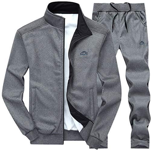Sllowwa Herren Jogging Anzug Trainingsanzug Sportanzug Academy Tracksuit Jogginganzug Man Sportanzug Freizeitanzug Hausanzug Hausanzug(Dunkelgrau,XXL)