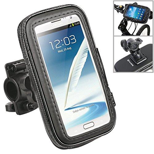 TecHERE BikeProof Plus - Supporto Universale impermeabile per Bici / Biciletta / Moto - Custodia porta telefono compatibile con iPhone 6, Samsung Galaxy S6 S5 S4, Sony Xperia, LG, HTC ed altri smartphones con display fino a 5,5 pollici - Colore Nero