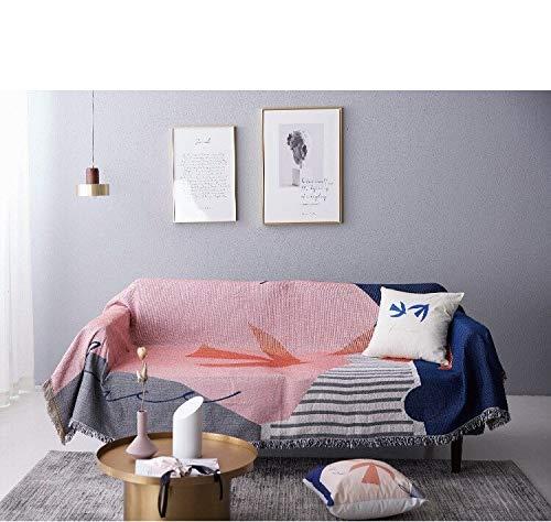 HEQIE-YONGP Decoración del hogar Nordic Geometría Sofá la Manta del Tiro Simple Alfombra Tapiz Sofá Toalla de Punto Manta Lanza Colcha hogar Textil hogar adorna Decoración de Pared