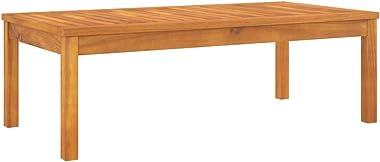 vidaXL Bois d'Acacia Solide Table Basse Table d'Appoint Table de Jardin Meuble de Patio Table de Canapé Terrasse Exté
