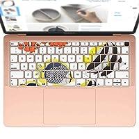 igsticker MacBook Air 13inch 2018 専用 キーボード用スキンシール キートップ ステッカー A1932 Apple マックブック エア ノートパソコン アクセサリー 保護 013767 海 魚 夏