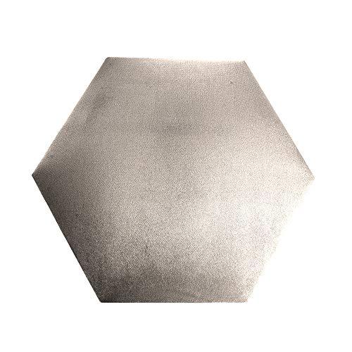 Comfort-Pur Polsterplatte Wandkissen Wandpolster Panelle Sechseck Honigwabe für eigene Montage 3D (Beige - 02P)