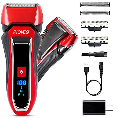 電気シェーバー メンズ 髭剃り 往復式 USB急速充電式 3枚刃 水洗い可能 乾湿両用 深剃り 海外対応 お風呂剃り可能 旅行用 メンズシェーバー