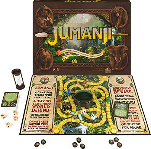 Jumanji The Game, of The Classic Adventure Board Game for Kids and Families Ages 8 and up