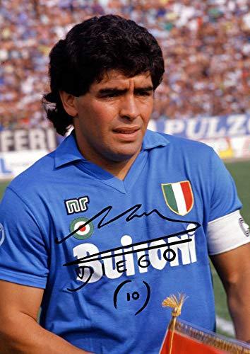 Generico Poster di Maradona autografato