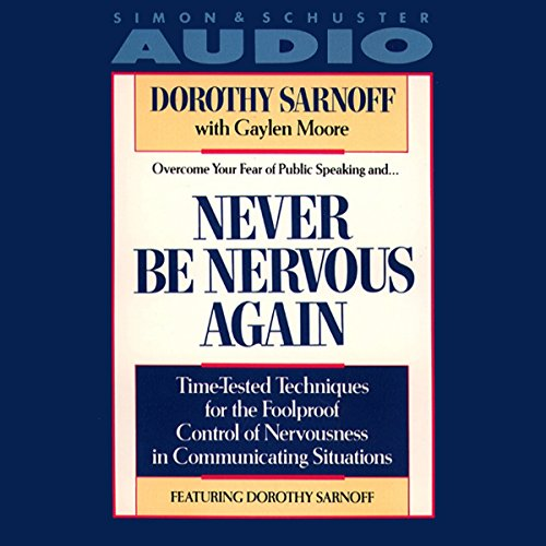 Never Be Nervous Again audiobook cover art